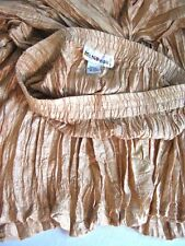 Wonderful Vintage Softly Pleated Pale Gold Silk Skirt- Wear with anything! M