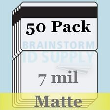 7 mil Matte HiCo Mag CC-Size Butterfly Laminate Pouches for Teslin - 50 pack