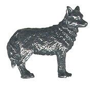 3 wholesale lead free pewter wolf figurines F6016