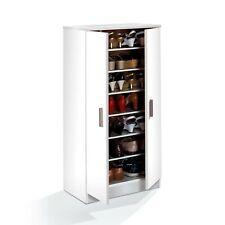 Zapatero 2 puertas / Mueble auxiliar / Multiusos / Color Blanco / GRAN CAPACIDAD