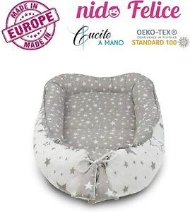 Riduttore culla universale Nido Felice neonato 100% COTONE CERTIFICATO OEKO-TEX