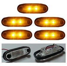 5 X 12V LED ORANGE AMBER MARKER LIGHT FLUSH ROOF BULL SIDE BAR STEP VAN 4X4 CAB