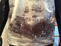 Dolce & Gabbana Single Jersey Polo shirt printed with antique harbour scene