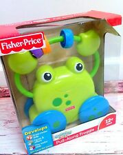 New Fisher-Price Growing Baby Pull-Along FROGGIE Frog Baby Pull Activity Toy