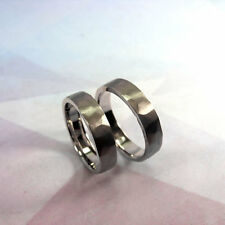 Textured Hammered Silver Ring Set Wedding Band Set for Him and Her Handmade