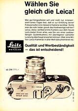 1961 Leica Wetzlar Kamera gleich die Leica wählen 13x18 cm original Printwerbung