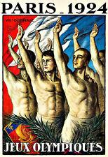 Art Ad Paris 1924  Jeux Olympiques   Deco   Poster Print