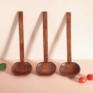 Japanese Style Wooden Ramen Spoon Soup Spoon Kitchen Utensil Tool Slotted Spoon
