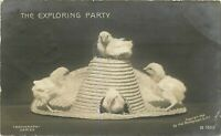 RCCP Postcard K281 Cancel 1910 The Exploring Party Chicks Hat Easter Rotograph