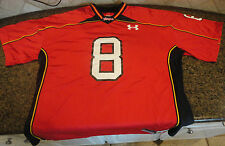 Maryland Terrapins Terps Red Under Armour Football Jersey #8 Mens XXL UA NWT