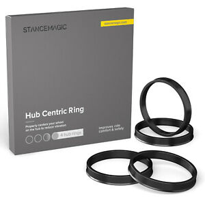 (4) Plastic Hubrings   56.1mm Car Hub to 73.1mm Wheel Bore   ID 56   OD 73