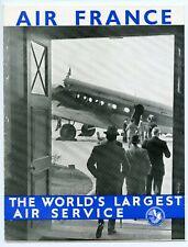 AIR FRANCE 1930s Brochure The Golden Clipper London-Paris route