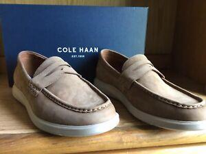 Cole Haan Grand Plus Essex Wedge Penny Loafer Dogwood Nubuck Men Size 11  C30482