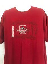 Red Washington DC T-Shirt XLARGE Tourist Vacation Top 100% Cotton