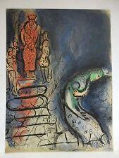 "Marc Chagall / Dessins pour la Bible ""Ahasuerus..."" Orig. Lithografie v. 1960."