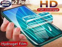 2x Hydrogel Film Full Cover Screen Protector Xiaomi Redmi Note 8 7 6 5 Mi 9 8 5