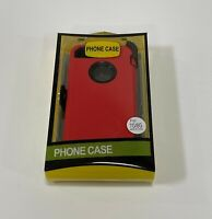 For Apple iPhone 7 & 8 Case with | Belt Clip Fits Otterbox DEFENDER SERIES RED