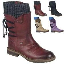 Ladies Fashion Mid-Calf Warmer Snow Boots Women Zipper Knitted Winter Shoes Size