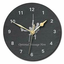 Climbing Abseiling Slate Clock - Personalised with text of your choice(Large ...