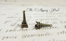BULK Charms Eiffel Tower Charms 3D Antiqued Bronze Wholesale Charms 50 pieces