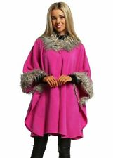 Button Knee Length Faux Fur Coats & Jackets for Women