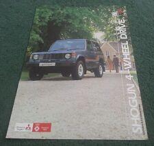 Fév 1984 Colt/MITSUBISHI UK Shogun SWB td essence Dur Doux Top brochure PAJERO