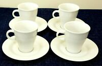 Arzberg Set Of 4 Demitasse Cups And Saucers Move White Weiss Made In Germany