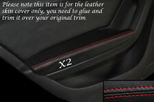 RED STITCH 2X REAR DOOR ARMREST SKIN COVERS FITS AUDI A4 B8 07-13