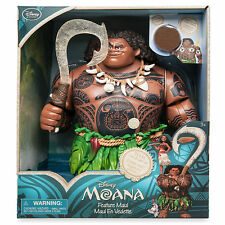"Disney Store Deluxe Moana Movie Talking Maui Toy Doll Figure 12"" Light Up Hook !"