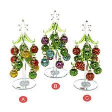 Deco de cristal de árbol de Navidad & bolas medio de elección de 3 Diseños