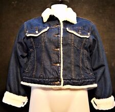 80's Vintage Star Blue Denim Jean jacket insulated women's L made in Hong Kong