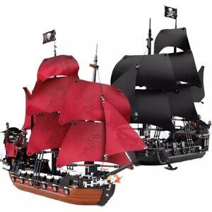 Black Pearl Jack Ship Pirates Of The Caribbean Blocks Ship Models Children Toys