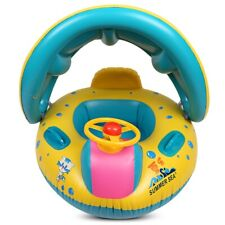 Inflatable Baby Float Seat Boat with Canopy Infant Swim Rings
