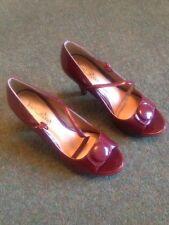 Viva La Diva Ladies High Heel Shoe In Burgundy Size 5e