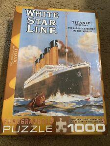 Eurographics 1000 Piece Jigsaw Puzzle - White Star Line - Titanic