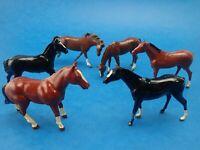 Vintage LEAD THOROUGHBRED HORSES Britains & John Hill