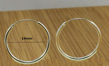 925 Sterling silver Sleeper Earrings 1.40cm diameter-Unisex