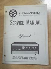 Kenwood Service Manual~Supreme 1 Amplifier/Amp~Original~Repair