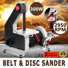 "1"" x 30"" Belt Disc Linisher Sander 300W Power Tool Grinder, Double Tilting Table"