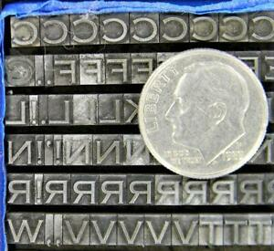 Alphabets Metal Letterpress Printing Type 10/12pt Copperplate Gothic Lt MN80  3#