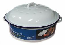 Falcon Enamel Roaster Round - Traditional White 26cm Perfect for Roasting & Cass