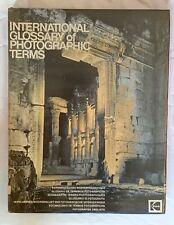 International Glossary of Photographic Terms, Hardback Book