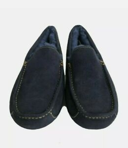UGG Australia Men's Ascot Slippers Navy Gold Rams 1120410 Wool Lined Size 12 US