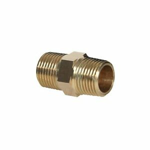 "Brass Pneumatic & Plumbing Pipe Hex Nipple Fitting 1/2"" NPT Size, 1 5/8"" Long"