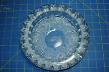 HOME BEAUTIFUL HEAVY LEAD CRYSTAL ASHTRAY FROSTED ROSE PATTERN LOOKS OUTSTANDING