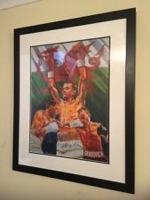 Lee Selby Signed Art Print - Commissioned by St Josephs Boxing Club Framed