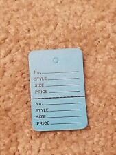 Unstrung Blue Perforated Coupon Price Tags 1 14 X 1 78 1000 New