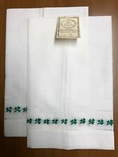 2 towels BT7882W Harvest Fruit Cutwork Pure IrishLinen HandEmbroidery BathTowels