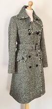 Banana Republic Bohemian Ladies Wool Tweed Herringbone Belted Coat , Size M