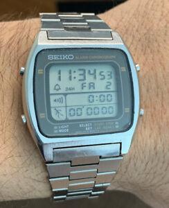 Vintage Seiko A714-5000 Alarm Chrono. Quartz Watch Full Working